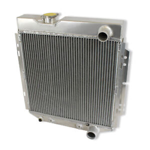 For 1964 66 Ford Mustang V8 L6 Mt at 3 Row Aluminum Racing Radiator