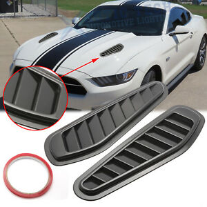 Black Front Air Flow Intake Hood Vent Bonnet Scoop Cover Trims For Ford Mustang Fits 2005 Ford Mustang