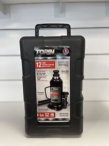 Torin At91203bb Hydraulic Welded Bottle Jack 12 Ton 24000 Lb Capacity Black