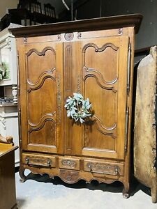 French Provincial Louis Xv Style Wardrobe Armoire