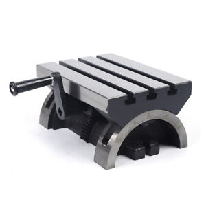 Adjustable Tilting Table Swivel Angle Plate Heavy Duty For Milling Machine 10 In