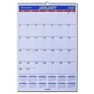 2022 At a glance Pm3 28 Monthly Wall Calendar 15 1 2 X 22 3 4