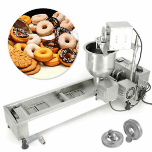 3 Sets Commercial Automatic Donut Fryer Maker Machine Wide Oil Tank Free Mold