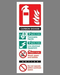 Fire Extinguisher Position Sign carbon Dioxide Self Adhesive Vinyl