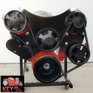 Big Block Chevy Serpentine Kit Front Drive System Black Bbc 396 402 427 454 502