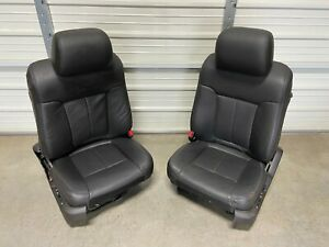 Ford F150 F 150 Platinum Black Leather Front Seats 2009 2010 2011 2012 2013 2014
