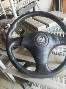 Oem Toyota 3 Spoke Steering Wheel Red Stitching Corolla S Celica Mr2