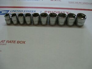 Silver Eagle 10 Pc 3 8 Dr Metric Socket Set 10 19mm New By Matco
