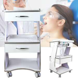 Dental Trolley Mobile Metal Built in Socket Tool Cart Instrument Cart