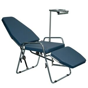 Portable Folding Dental Chair Cuspidor Tray Operation Light Mobile Equipment