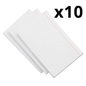 Ruled Index Cards 3 X 5 White 500 pack Pack Of 12
