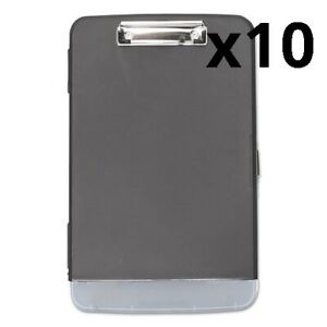 Storage Clipboard W pen Compartment 1 2 Capacity 8 1 2 X 11 Black Pack Of