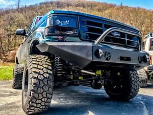 Full Size Ford Truck And Bronco Modular Front Bumper 1992 1996