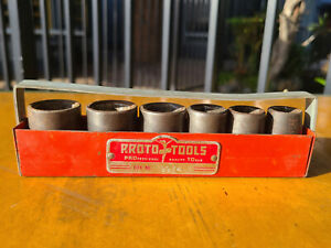 Vintage Proto Professional Tools Socket Set Box 9974 Set 7400 D