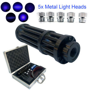 450nm Visible Beam High Power Laser Pointer Blue Light With 4pcs Batteries Box