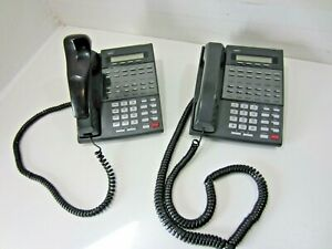 Lot Of 2 Nec 80573 Bds 22 btn Display Telephones With Handsets