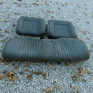 1987 1993 Ford Mustang Gt 5 0l Hatchback Gray Tweed Complete Rear Seats Oem Used