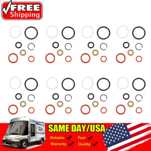 8 Kit Diesel Fuel Injector O ring Seals For 1994 2003 Ford Powerstroke 7 3l