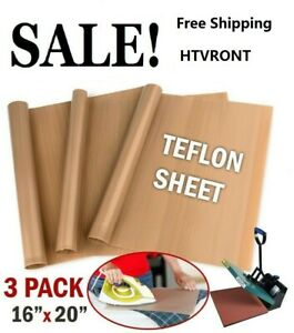 Htvront 3xteflon Sheets For Heat Press Transfer Non Stick Resistant Reusable