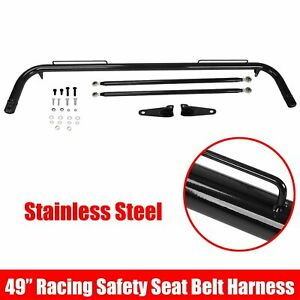 49 Black Stainless Steel Racing Safety Seat Belt Chassis Roll Harness Bar Rod