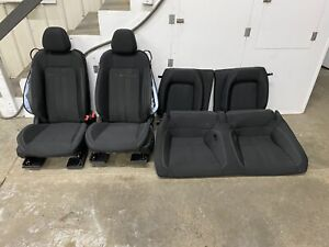 2018 2020 Ford Mustang Gt Black Cloth Front Rear Seats Power Oem