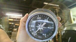 Vintage Aqua Meter Vintage Wood Old Boat Parts Speedometer Gauge 5 45mph