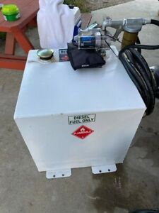 Jobox 50 Gallon In Bed Auxiliary Diesel Tank With 12v Pump 20 Hose