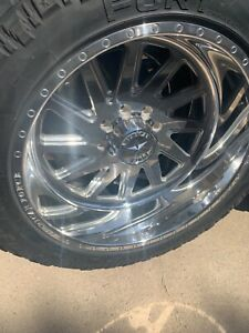 American Force Aka Ss8 Polished 24 X12 Truck Wheels Rims 8 Lug 2011 Duramax