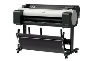 New Canon Imageprograf Tm 300 36 Wide large Format 5 Color Printer With Stand