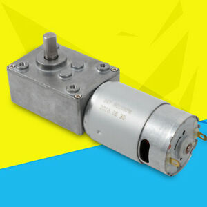 Electric Turbo Worm Gear Motor 12v 3rpm High Torque Reversible 8mm Out Shaft New