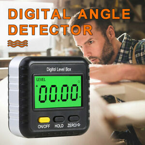 Magnetic Digital Display Protractor Inclinometer Electronic Angle Finder Meter