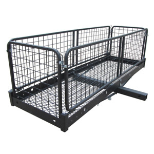 Hitch Cargo Carrier 500 Lb Capacity 60 In X 20 In Steel Folding 2 In Receiver