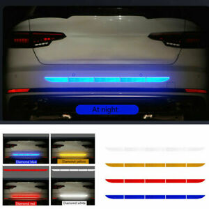1x Car Accessories Reflective Warn Strip Tape Bumper Safety Stickers Decal Decor Fits Bmw M