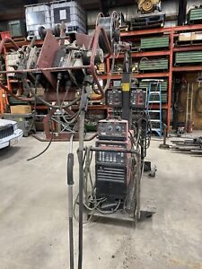 Lincoln Power Wave 450 Dual Wire Feeders With Tig Module Mig tig stick Will Ship