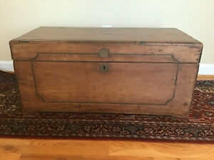 Antique English Camphor Chest Trunk Campaign Chest Local Pick Up