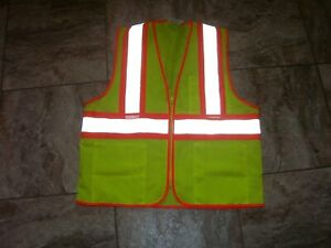 Tingley Class 2 Mesh Hi vis Two tone Traffic Safety Vest W Zipper Double Sized
