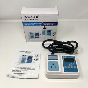 Wh1436a Temperature Controller 110v Digital Thermostat Switch no 3 5mm Jack