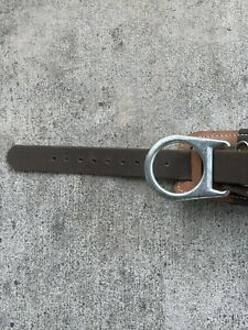 Buckingham Size 20 Pole Tree Climbing Tool Belt brown With Safety Lanyard