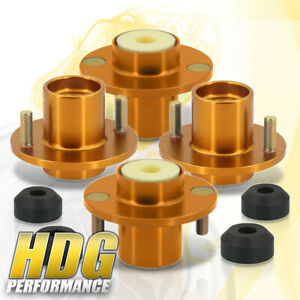 For 88 00 Civic 4 Pieces Gold Shock Strut Tower Top Hat Bushing Bumper Bump Stop