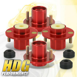 For 88 00 Civic 4 Pieces Red Shock Strut Tower Top Hat Bushing Bumper Bump Stop