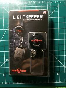 SureFire Light Keeper Lanyard ONLY with Automatic Return Cord 24quot; Black $20.00