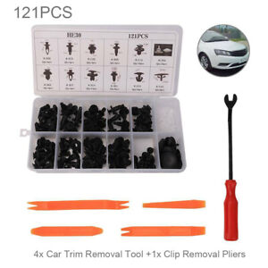 121 Clips Car Door Push Bumper Trim Body Retainer Assortment For Honda Tools