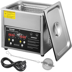 Vevor Digital Ultrasonic Cleaner Ultrasonic Cleaning Machine 3l Stainless Steel