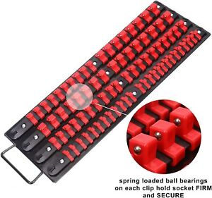 Socket Organizer Rail Tray For Toolboxes Drawer Socket Holder Clips Tool Box New