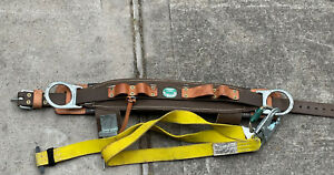 Buckingham Size 22 Pole Tree Climbing Tool Belt brown With Lanyard