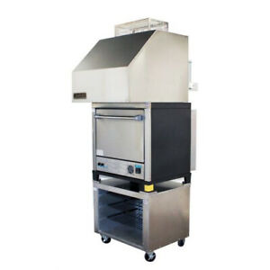 Naks Single Deck Pizza Oven W Ventless Hood 30 1ph Fire Suppression Ready