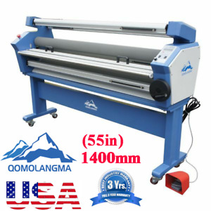 Upgraded 55 Full auto Wide Format Cold Laminator Laminating With Trimmers usa