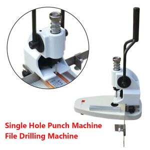 Small Single Hole Punch Machine Quickly Working Manual Paper tags B3 Paper Drill