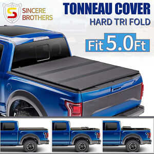 For 2016 2021 Toyota Tacoma 5ft Truck Bed Frp Hard Solid Tri fold Tonneau Cover