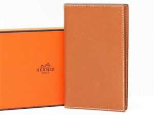Authentic Hermes 2006 Agenda Notebook Day Planner Cover Leather Brown 18628058